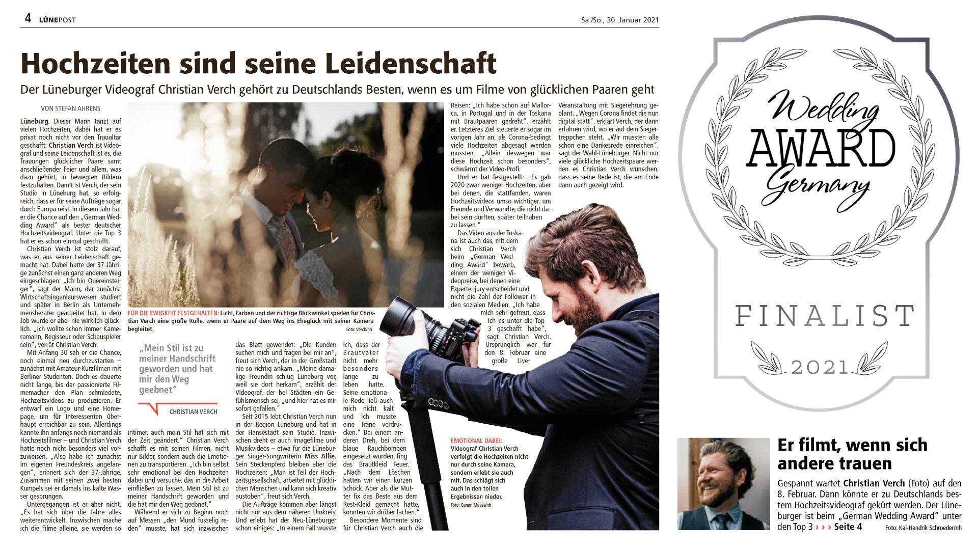 Lünepost German Wedding Award Hochzeitsvideo